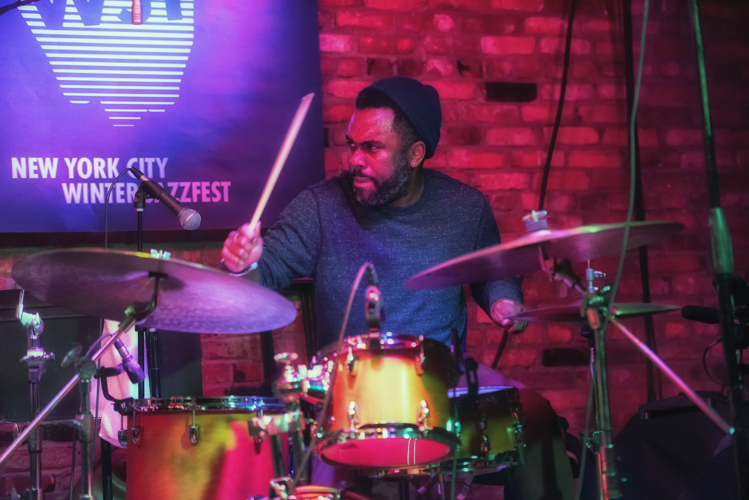 Nate Smith with Kinfolk at the Nyc Winter Jazzfest 2015