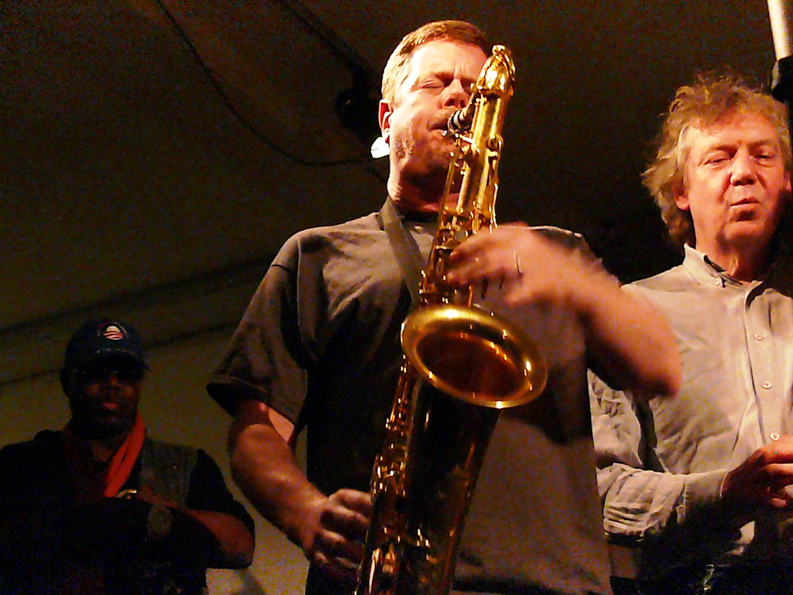 Joe McPhee, Ken Vandermark and Johannes Bauer at Cafe Oto, London in November 2012