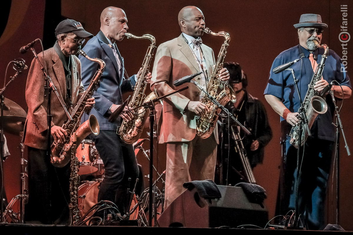 Jimmy Heath, Joshua Redman, Branford Marsalis, Joe Lovano - 60th Monterey Jazz Festival, 2017