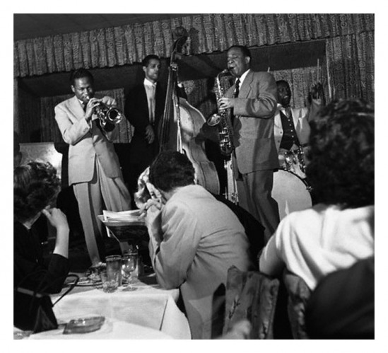 Clifford Brown, Curly Russell, Lou Donaldson and Art Blakey (Francis Wolff, 1954)