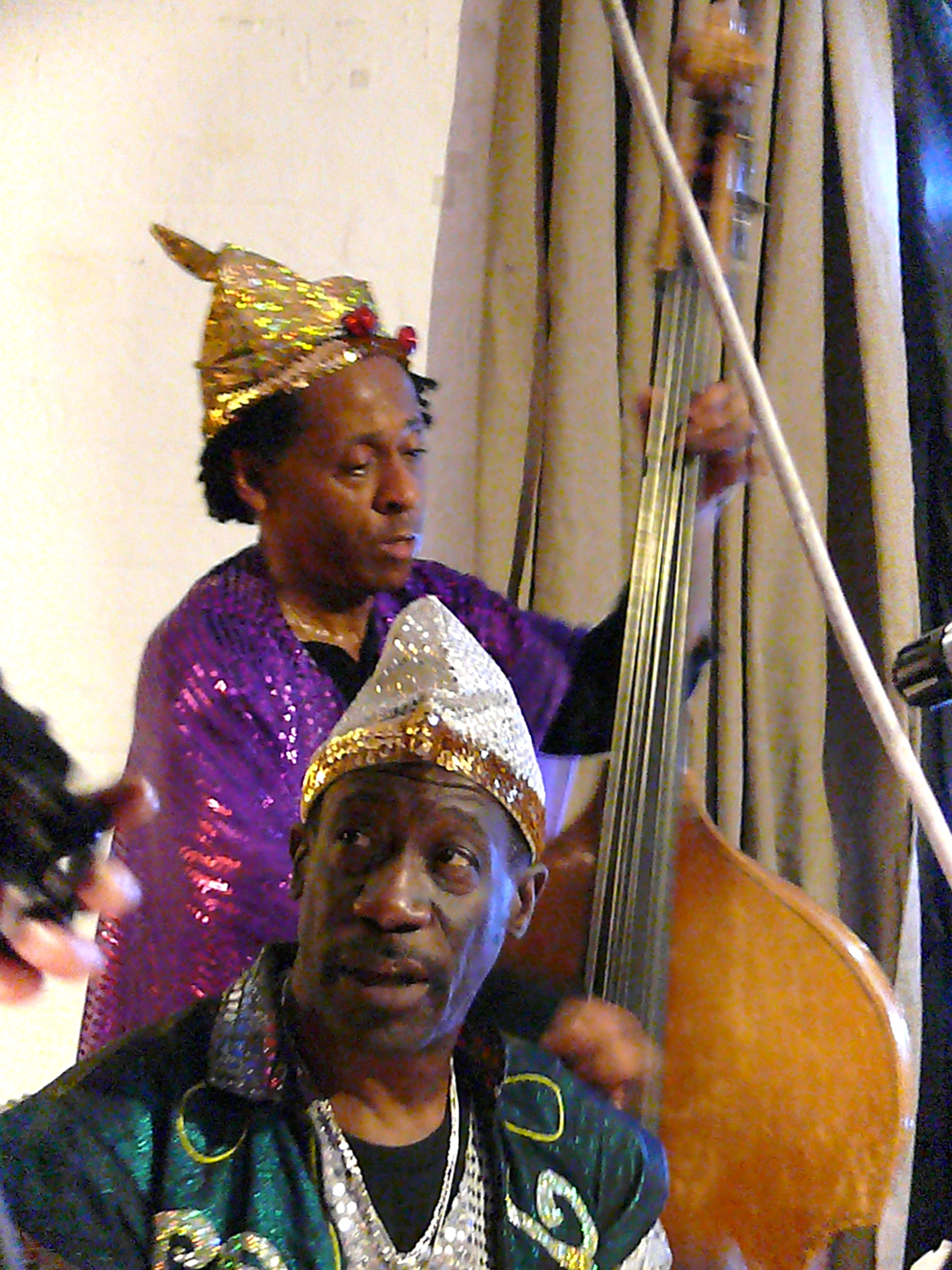 Juni Booth and Michael Ray at Cafe Oto London in April 2010 with the Sun Ra Arkestra