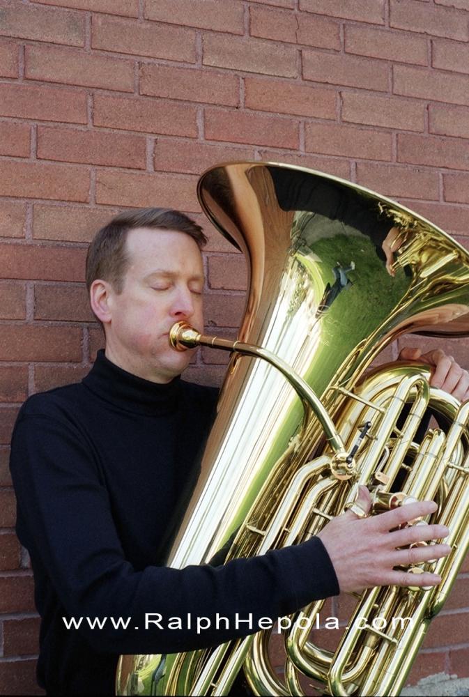 Ralph Hepola on Tuba
