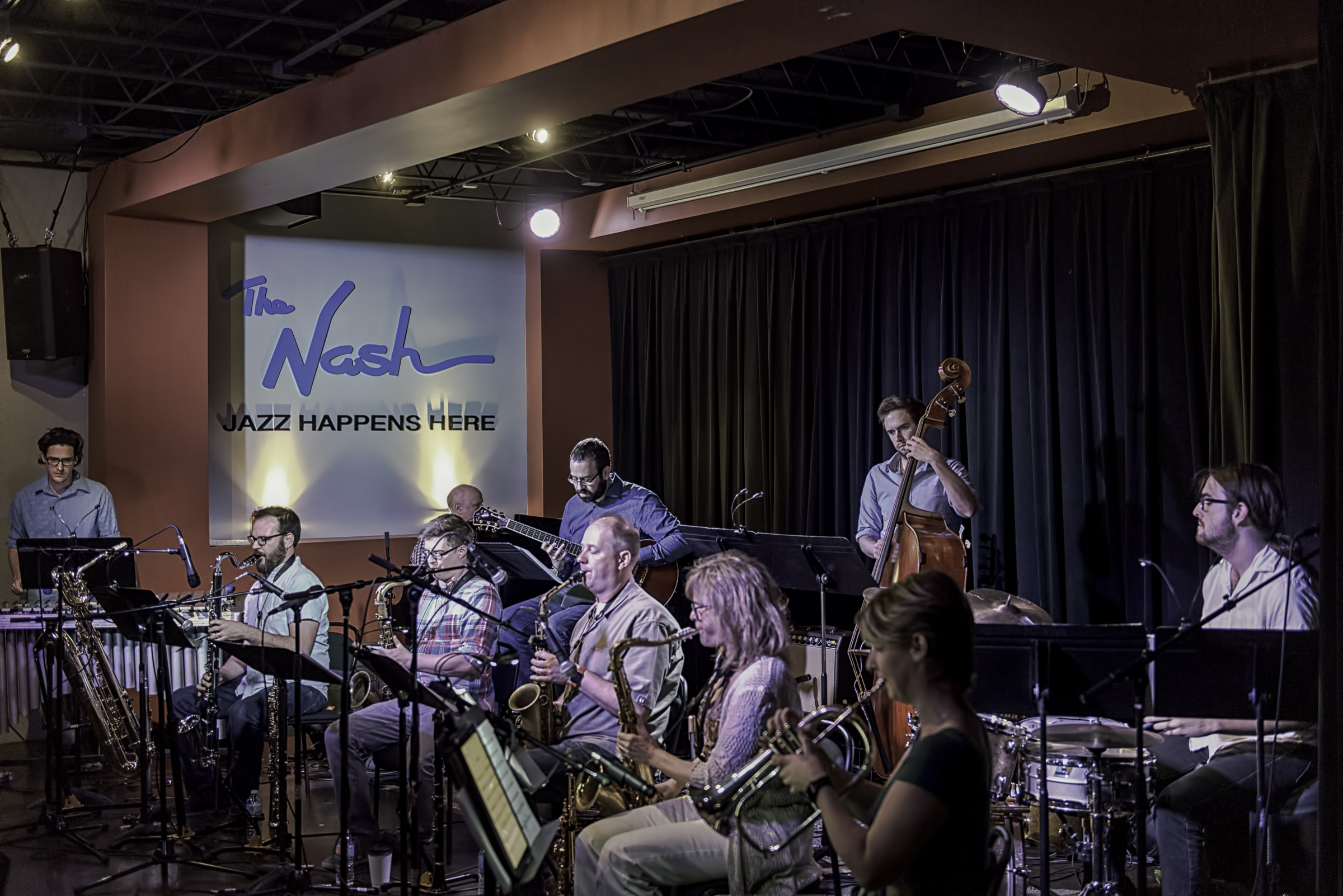 Matt Williams, Keith Kelly, Russell Schmidt, Jeff Libman, Eric Rasmussen, Ben Hedquist, Mary Petrich, Megan Dejarnett And Connor Sample With The Nash Composers Coalition At The Nash In Phoenix