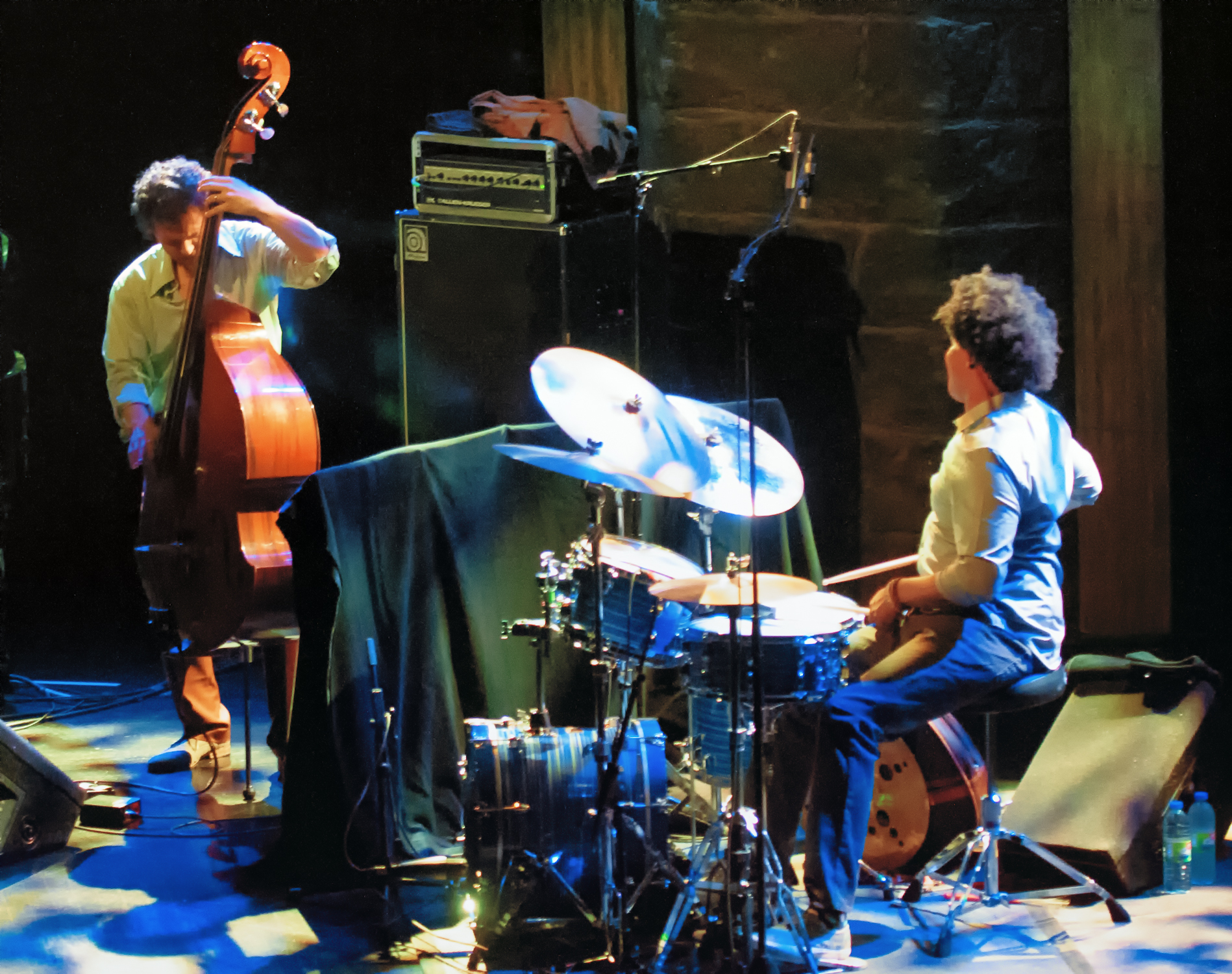 Stephan crump and justin brown with the vijay iyer trio at the montreal international jazz festival 2013