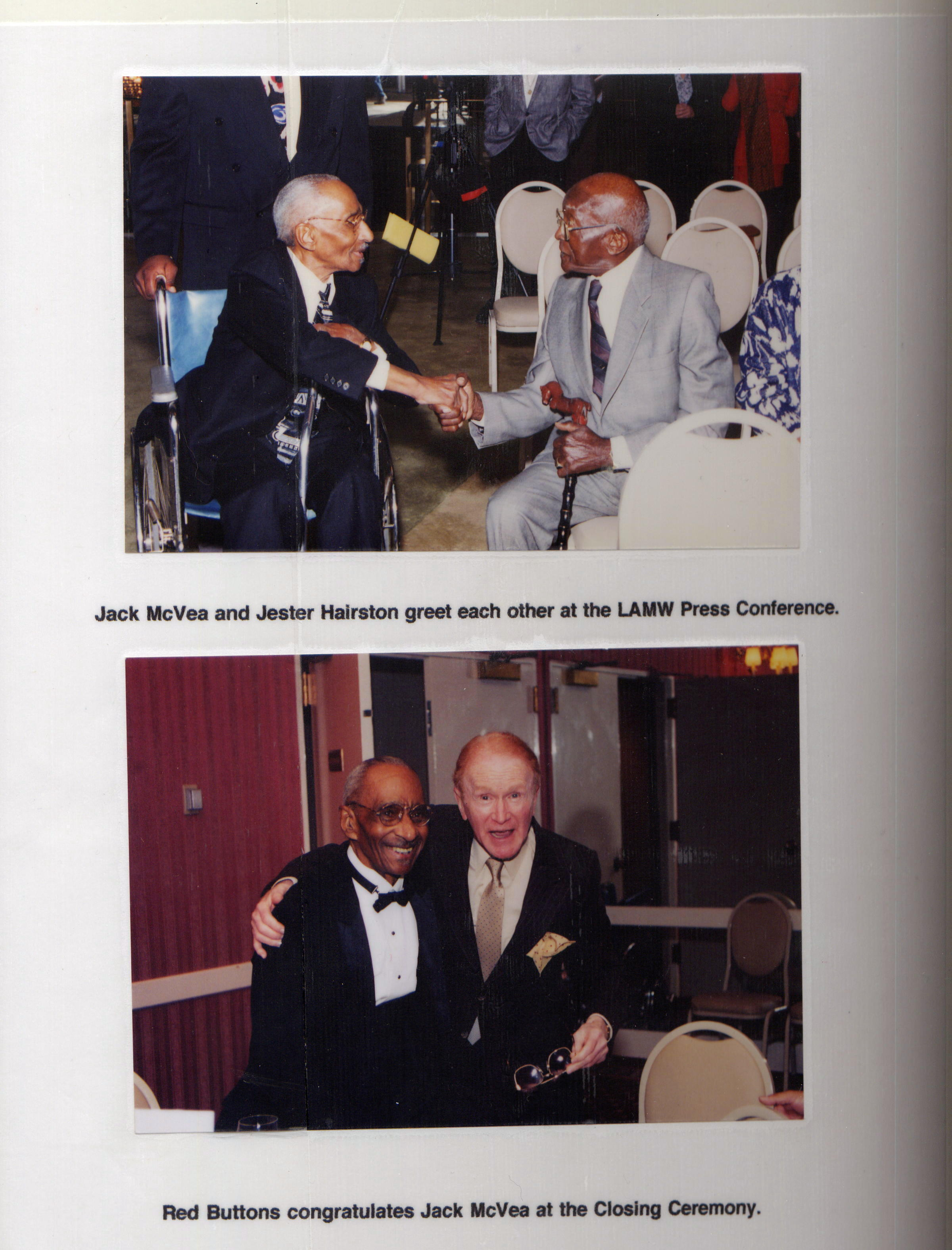 LAMW Honorees Red Buttons, Jack McVea and Jester Hairston