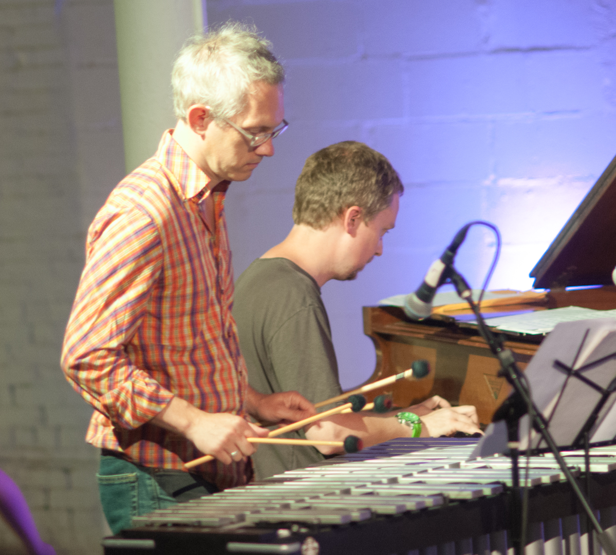 Matt Moran and Matt Mitchell with the Claudia Quintet at Shapeshifter Lab