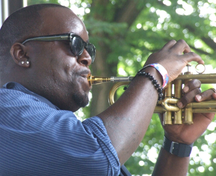 Marquis Hill Leading His Black-Tet at 2011 Chicago Jazz Festival
