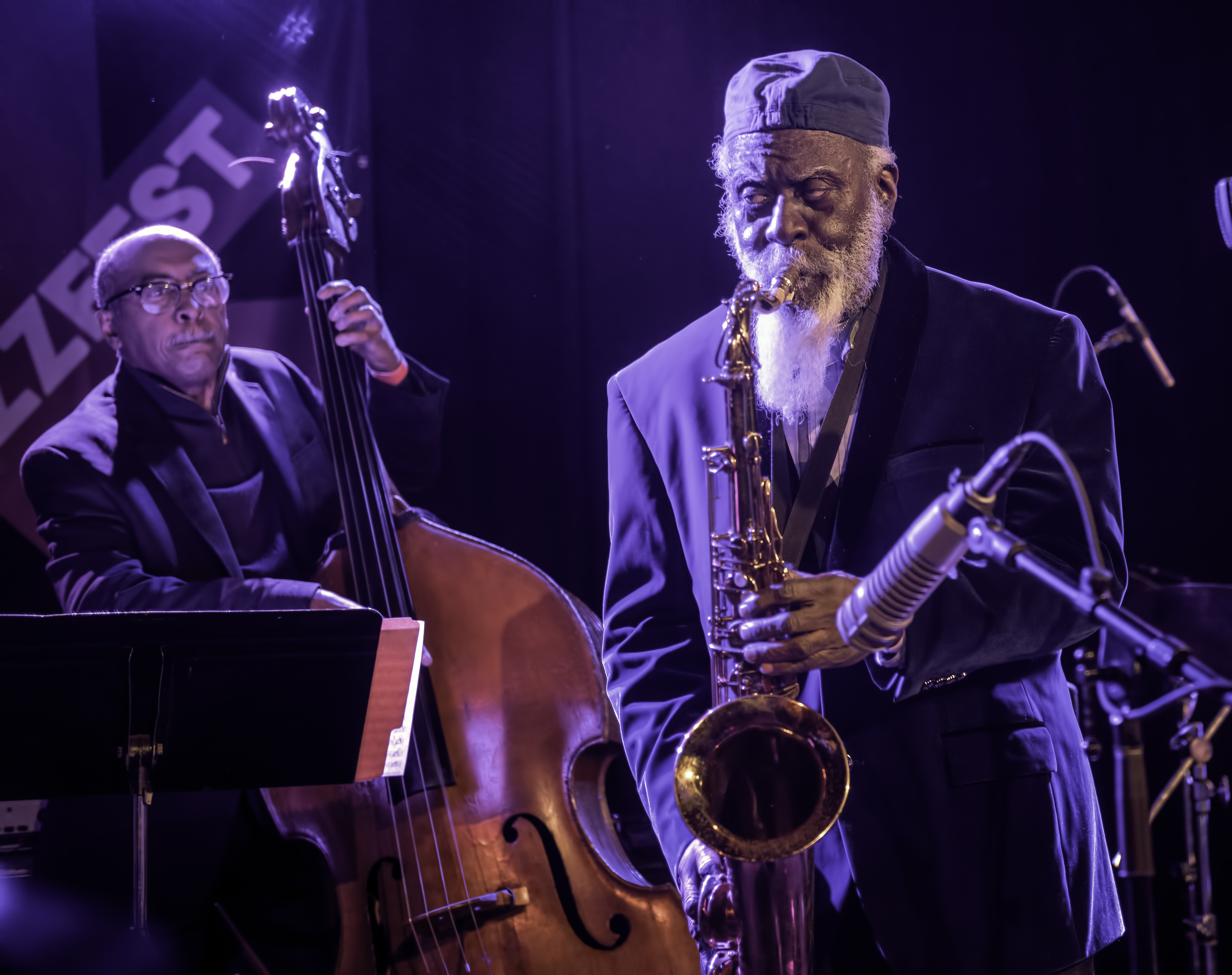 James King and Pharoah Sanders with Gary Bartz Celebrating the 50th Anniversary of 'Another Earth' at the NYC Winter Jazzfest 2019