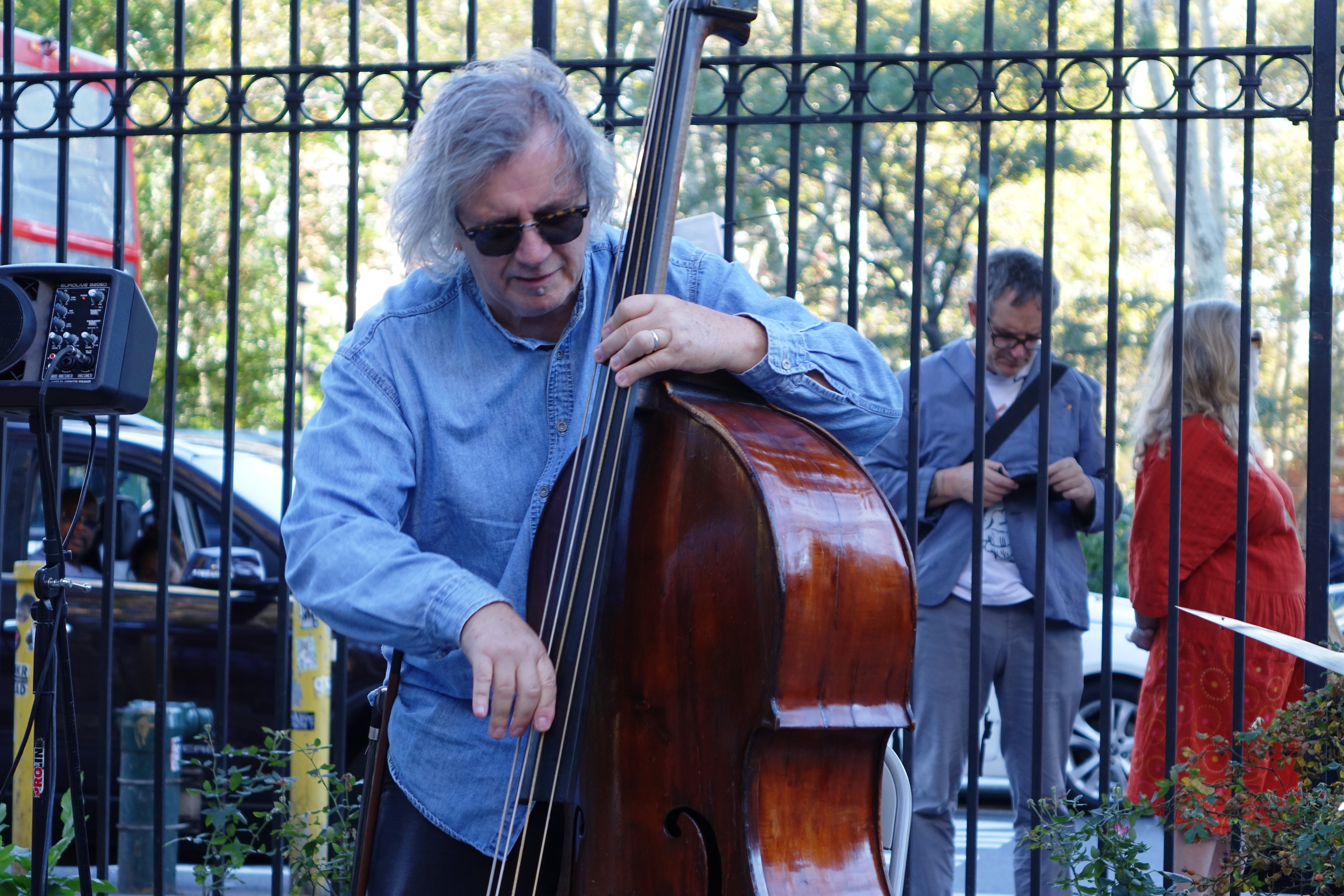 Michael Bisio at First Street Green, NYC in October 2017