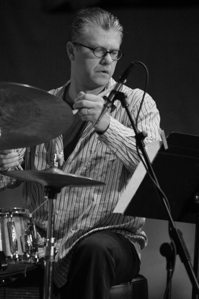 Matt Wilson Performing with the Lee Konitz Nonet at the Chicago Jazz Festival; Chicago 2006