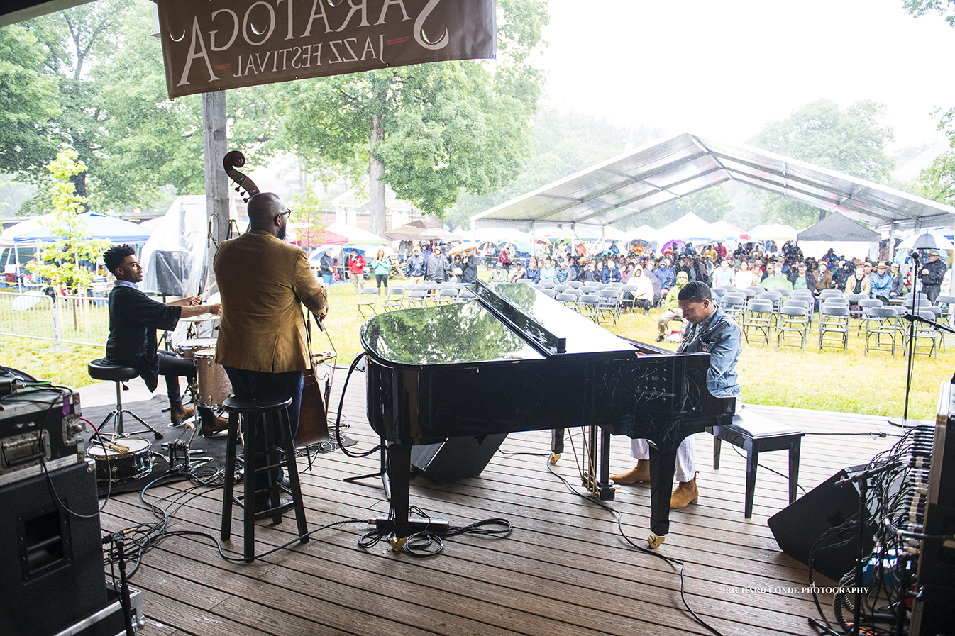 Christian Sands Trio at the 2018 Freihofer Saratoga Jazz Festival