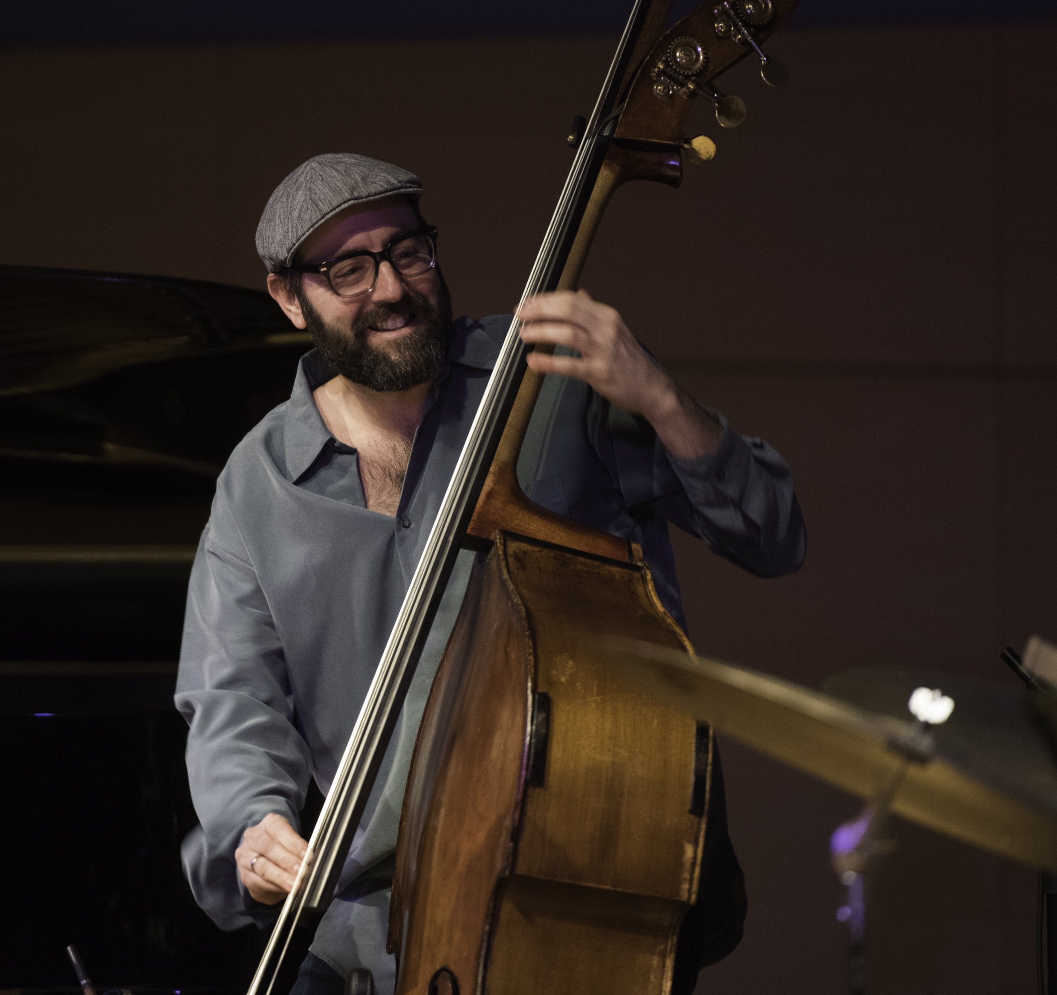 John Hebert with Tim Berne's Sideshow at the NYC Winter Jazzfest 2016