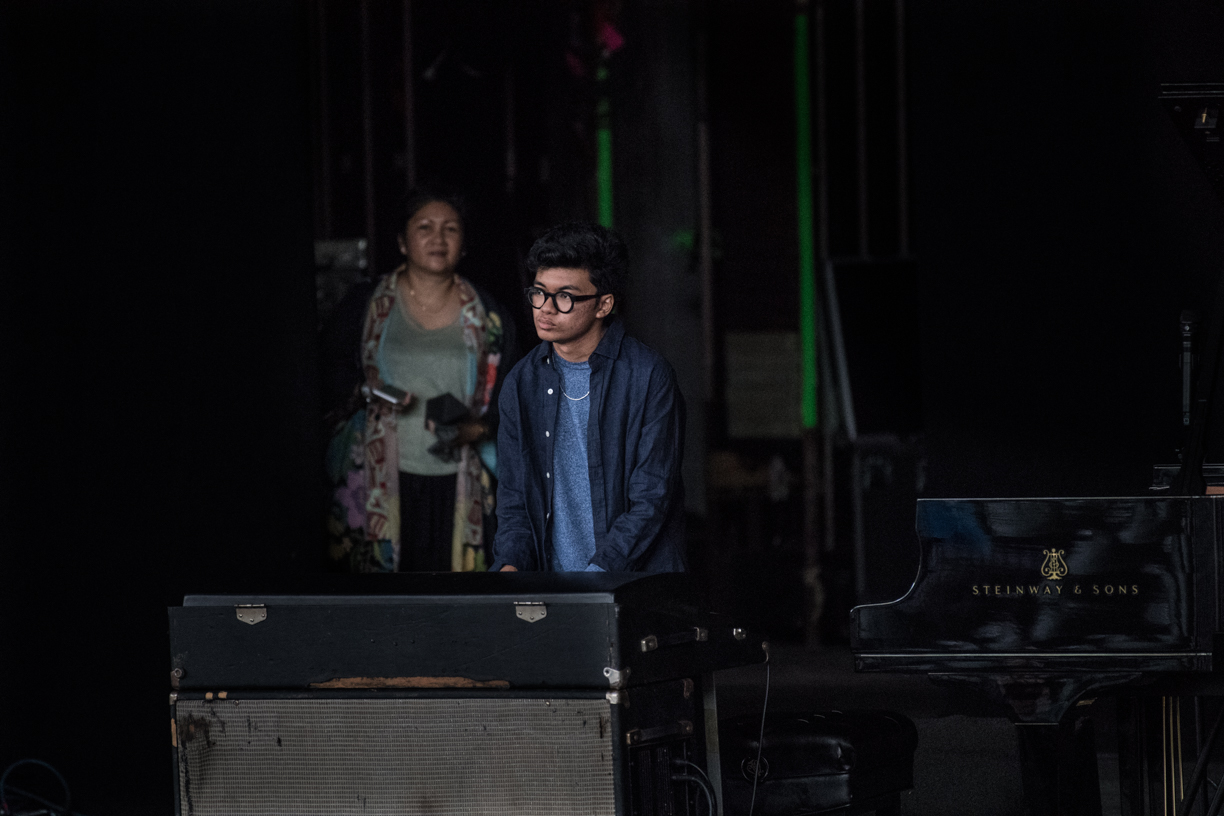 Joey Alexander and Mom at the 2021  Freihofer's Saratoga Jazz Festival
