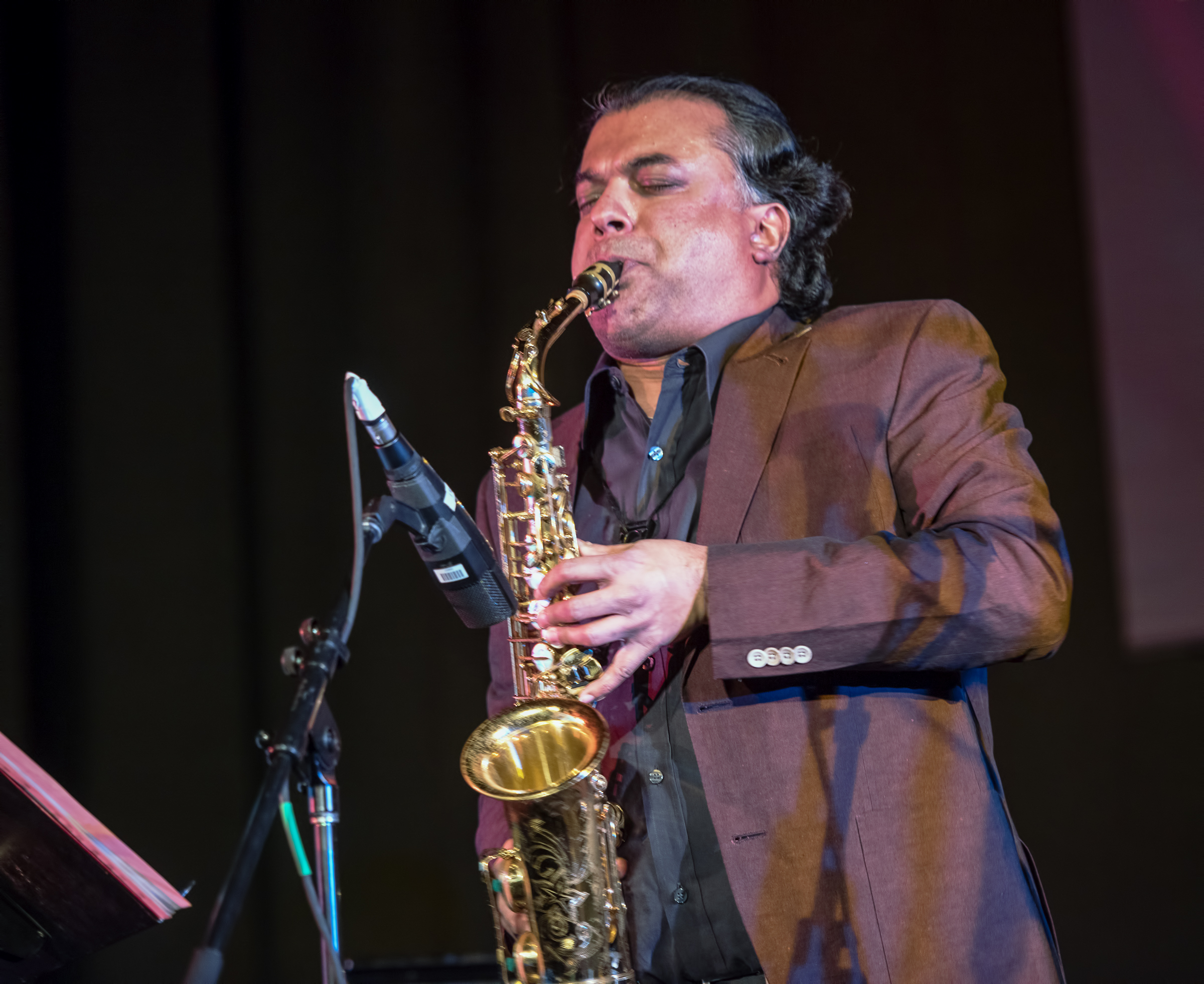 Rudresh Mahanthappa with Bird Calls (the Charlie Parker Project) at the Nyc Winter Jazzfest 2015