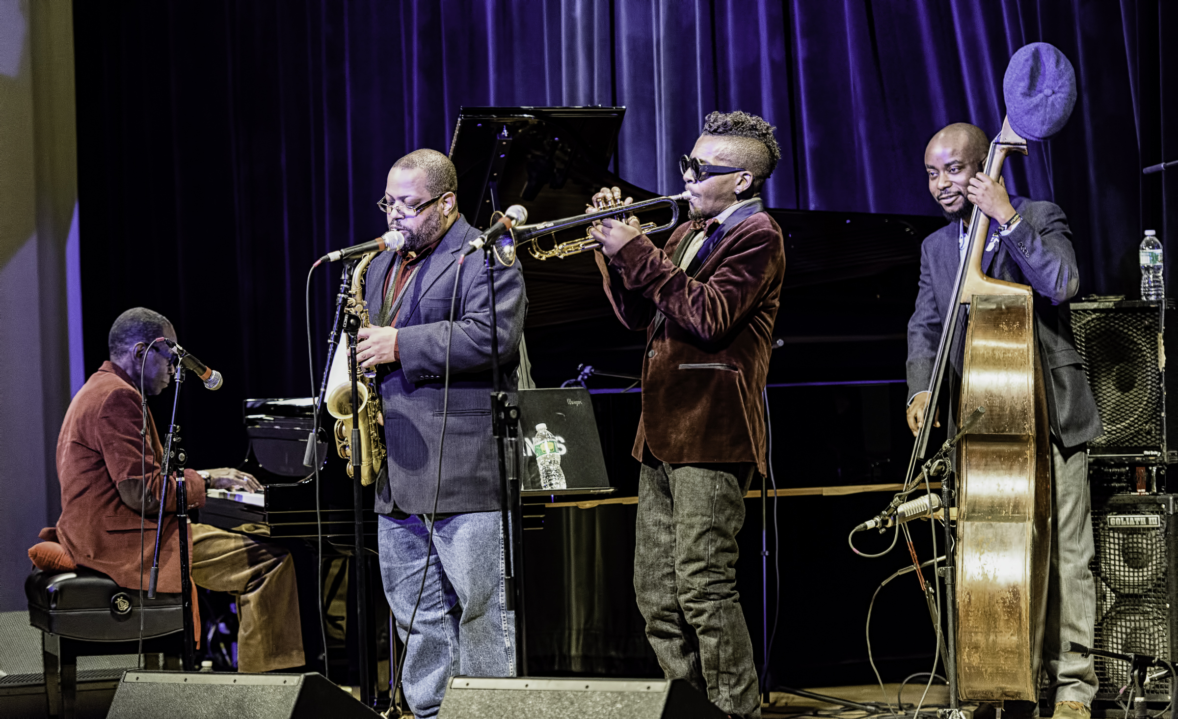 George Cables, Justin Robinson, Roy Hargrove and Ameen Saleem with the Roy Hargrove Quintet At The NYC Winter Jazzfest 2016