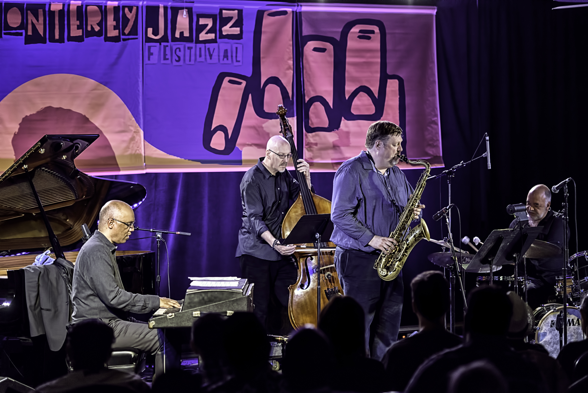 Billy Childs, Scott Colley, Joel Frahm and Peter Erskine with Joel Frahm Quartet 90th Birthday Party Tribute to Stan Getz at the Monterey Jazz Festival