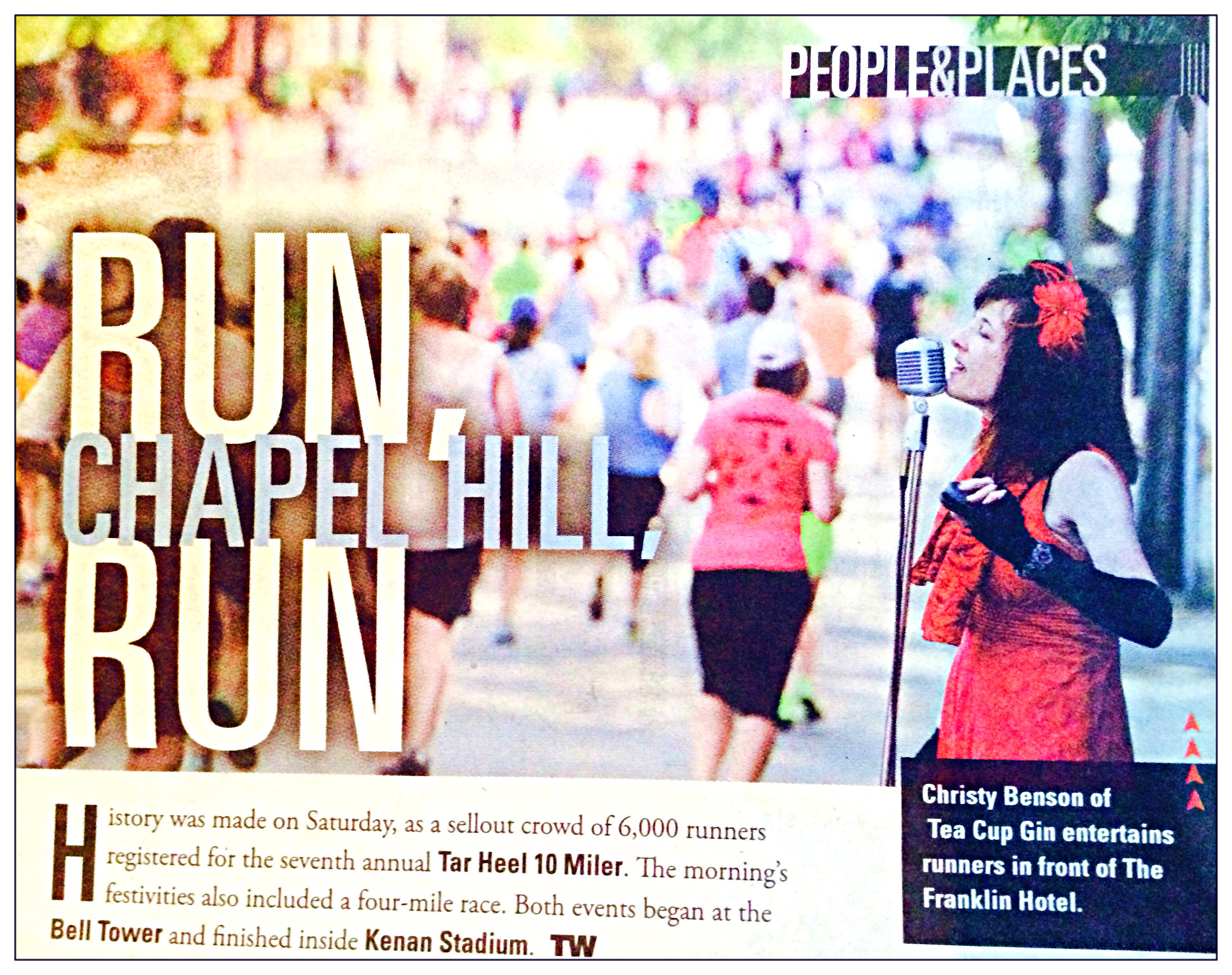 Tea Cup Gin in Chapel Hill Weekly Magazine