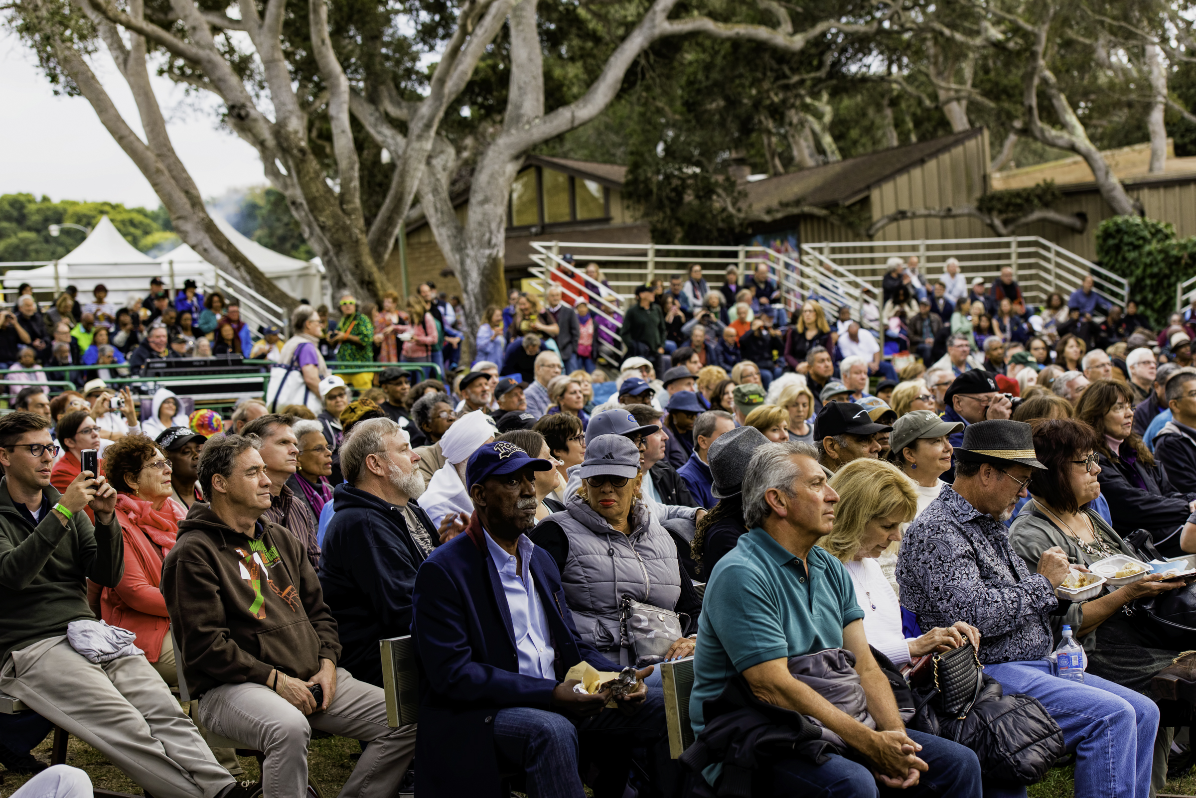 Crowd at the Ray Obiedo Latin Jazz Project at the Monterey Jazz Festival