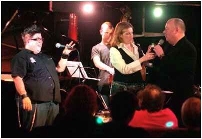 Lea Delaria, Simon Little, Ian Shaw, Clare Teal 21256 Pizza Express, Dean Street, London Oct. 2007 Images of Jazz