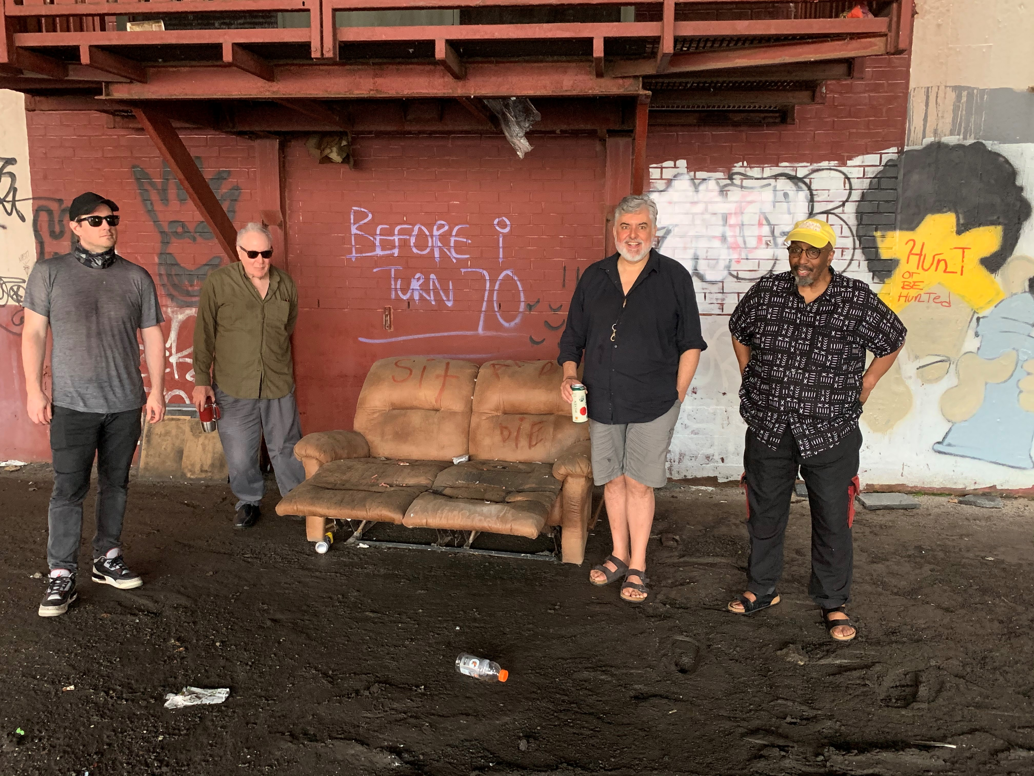 Tim Dahl, Billy Mintz, Tony Malaby, and William Parker under the Turnpike