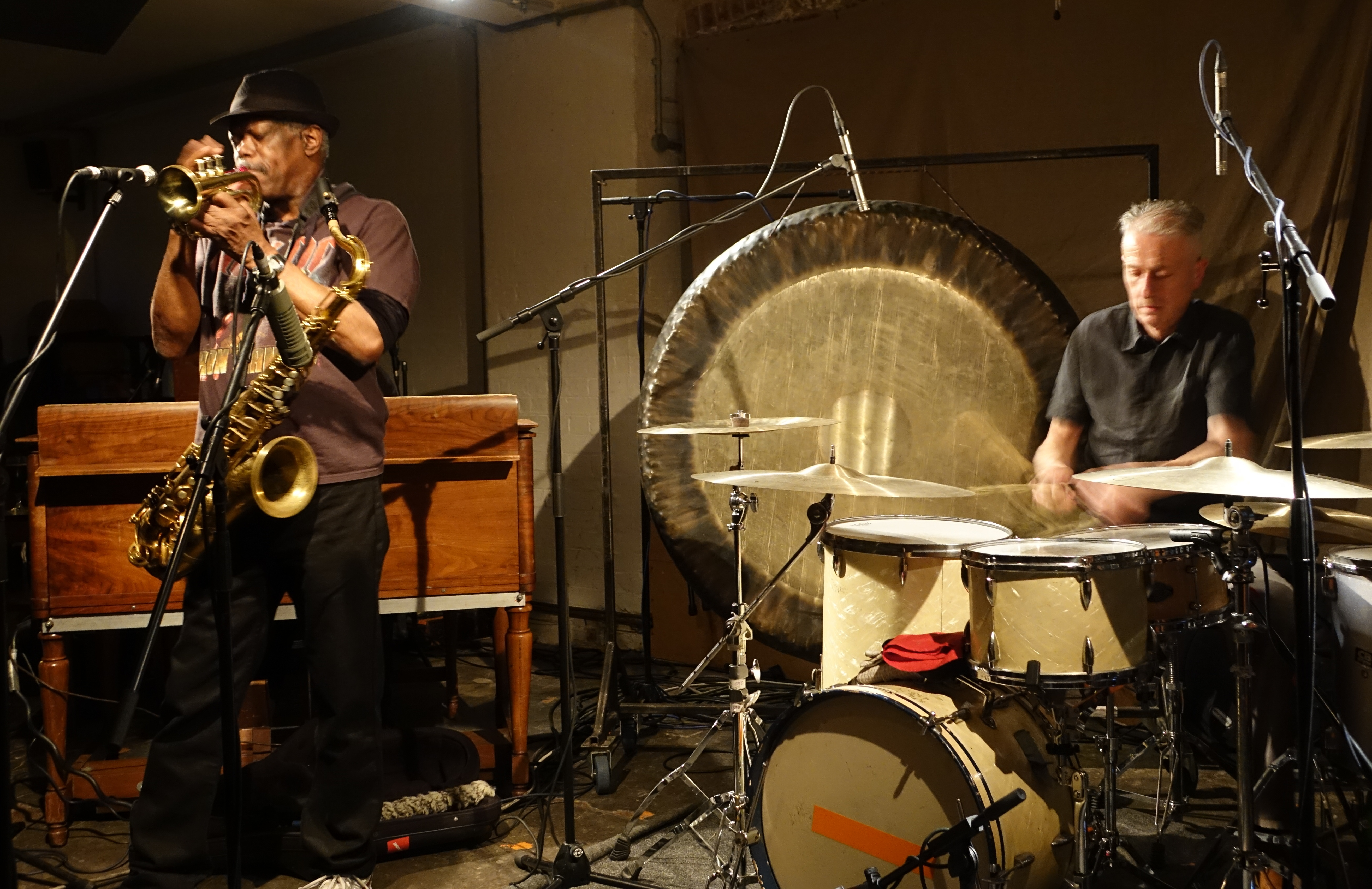 Joe McPhee and Steve Noble at Cafe Oto, London in May 2019