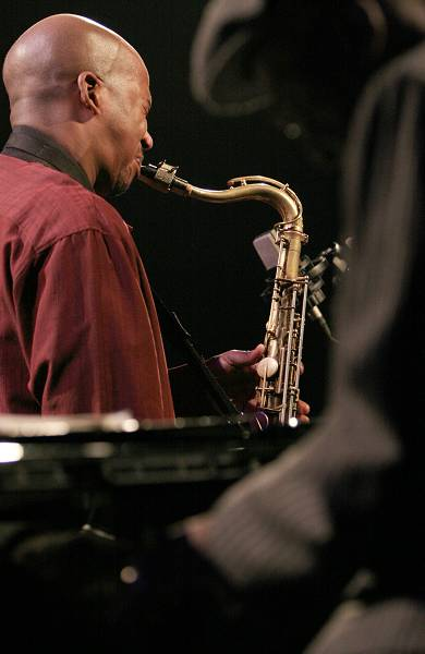 """Andrew Hill and Greg Tardy with the """"Andrew Hill Quintet"""" at the Amr Jazz Festival, Alhambra, Geneva, Switzerland, April 2006"""