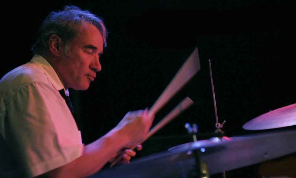 """Paul Lovens with """"Aki Takase Plays Fats Waller"""" at Amr, Sud Des Alpes, Geneva, Switzerland,2005"""
