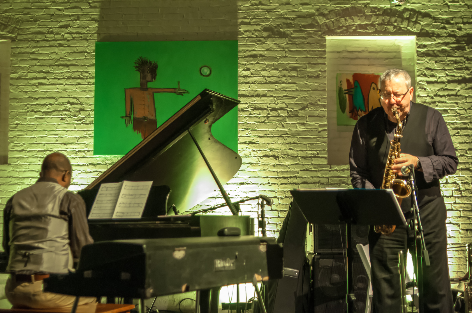 James Weidman and Marty Ehrlich with Rite's Quartet at Shapeshifter Lab