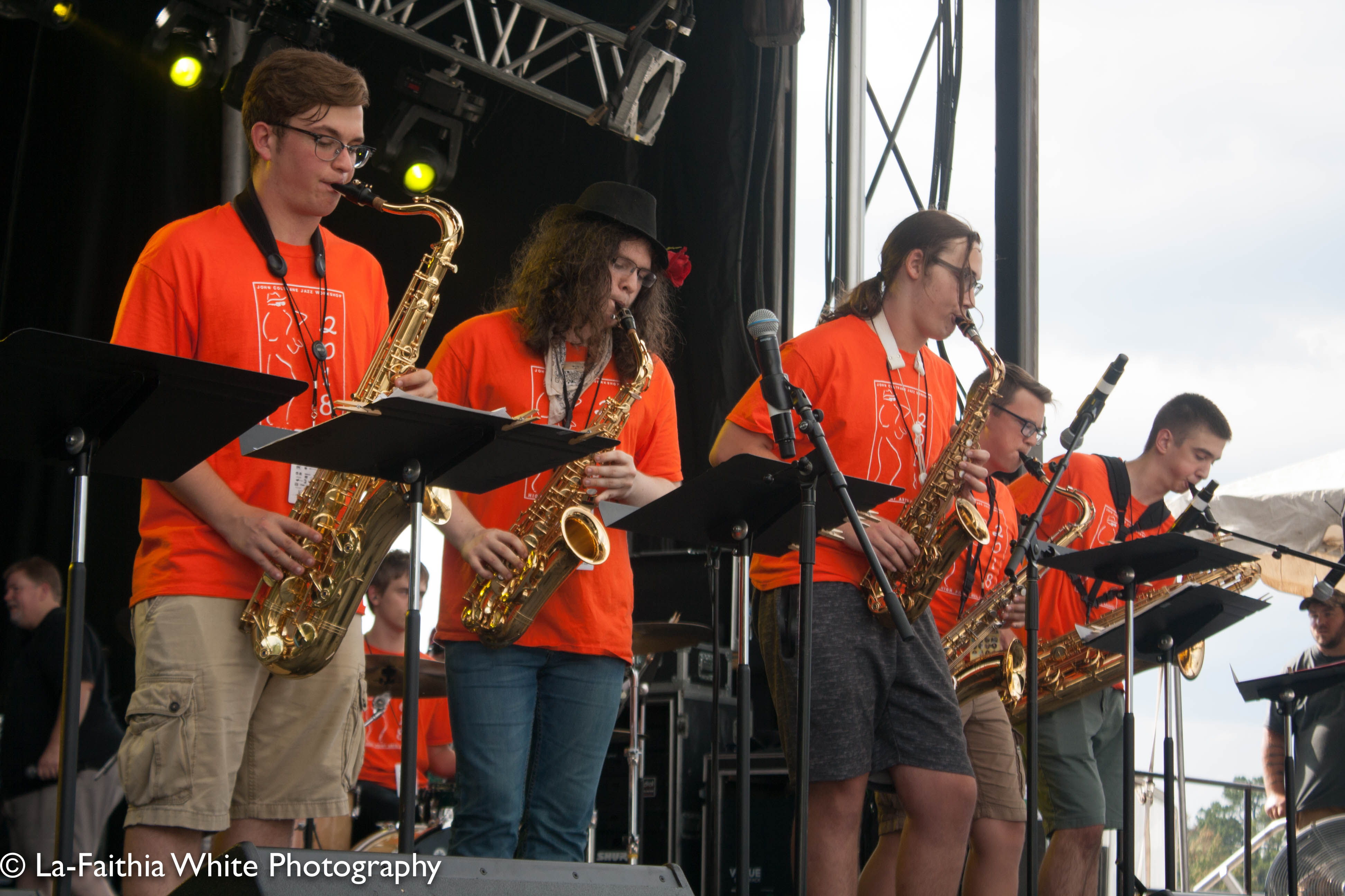 Youth Jazz Workshop At The 8th Annual John Coltrane International Jazz And Blues Festival