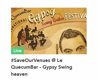 Save our Venues - Crowd funder page