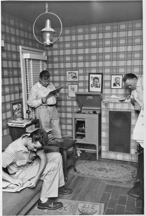Tom Pletcher, Stewart Pletcher and Joe Rushton Listening to Bix Beiderbecke