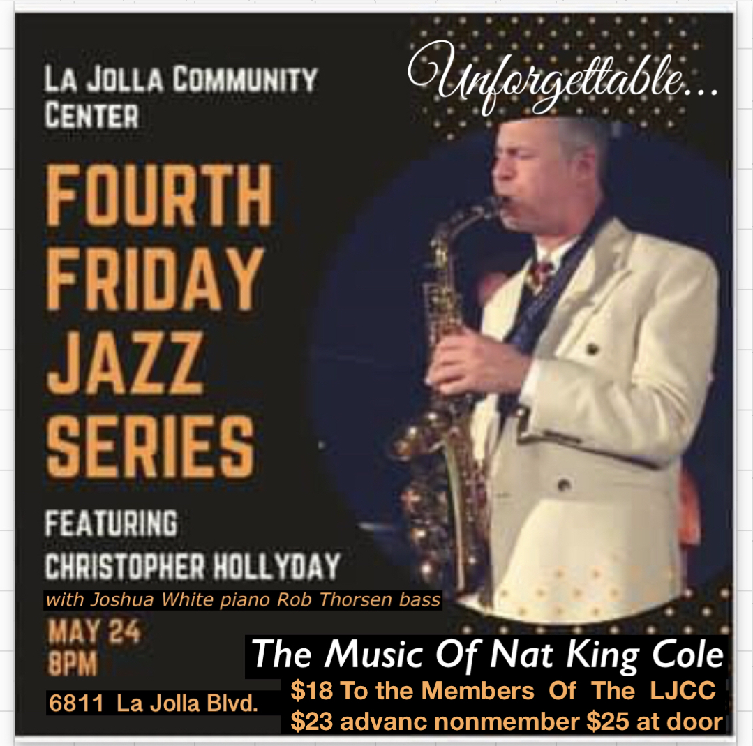 Christopher Hollyday plays Nat King Cole