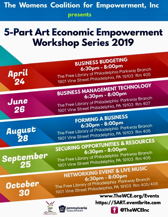 5-Part Art Economic Empowerment Workshop Series