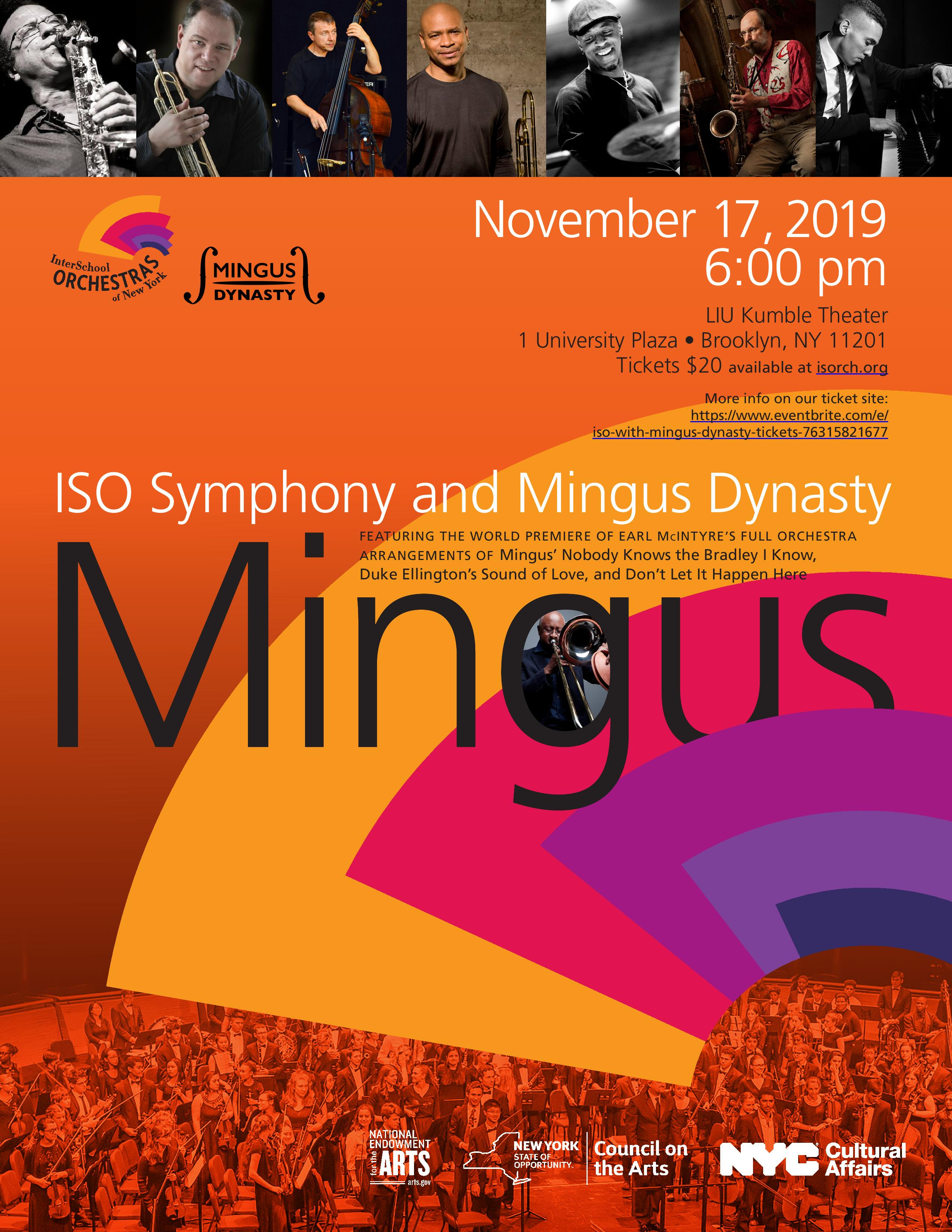 InterSchool Orchestras Of New York And Mingus Dynasty Present: Mingus