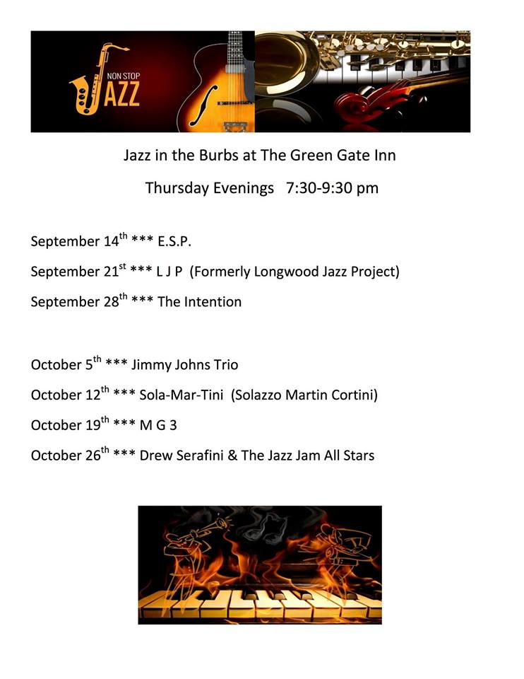 Jazz In The Burbs At The Green Gate Inn