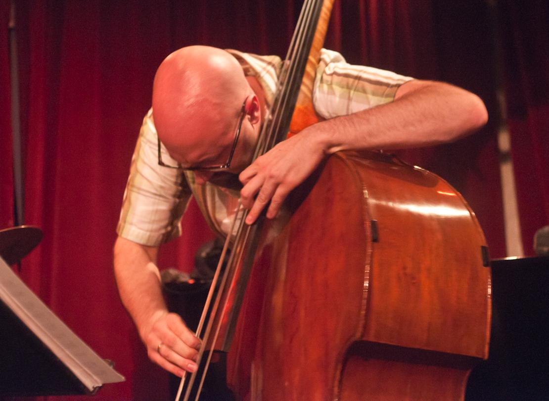 John Hebert with the Mary Halvorson Quintet at Cornelia Street Cafe