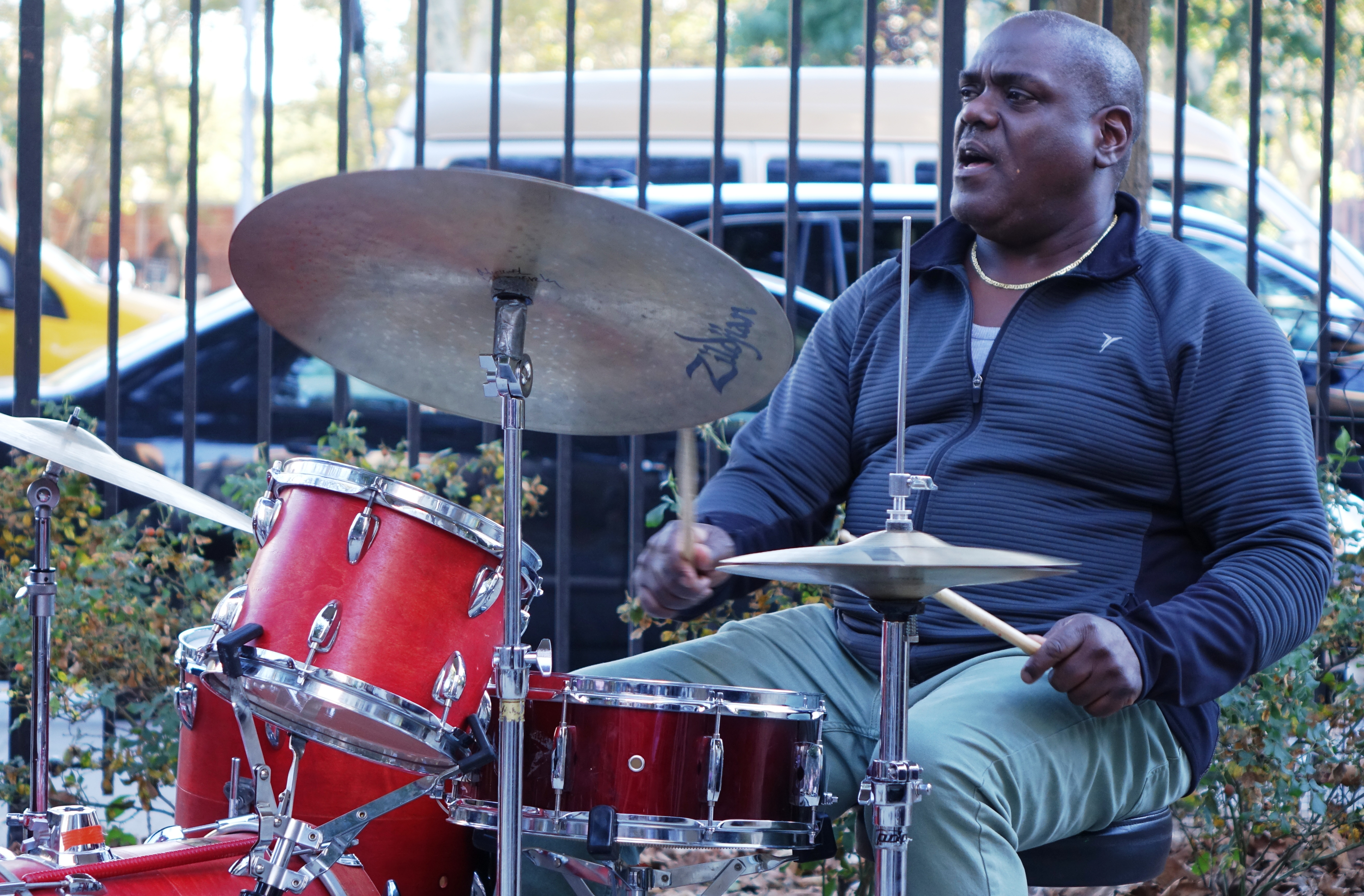 Michael Wimberly at First Street Green, NYC in October 2017