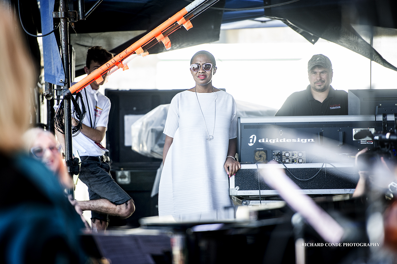 Cecile McLorin Salvant at the 2018 Newport Jazz Festival