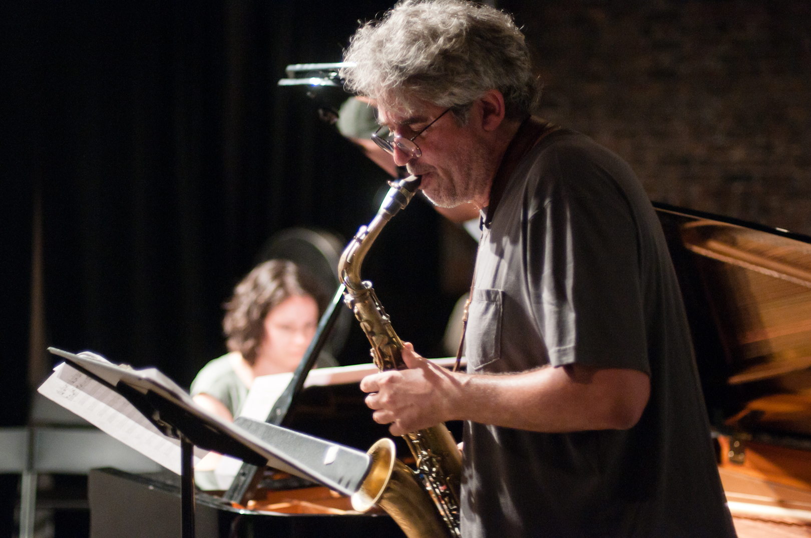 Tim Berne and Kris Davis at the Stone