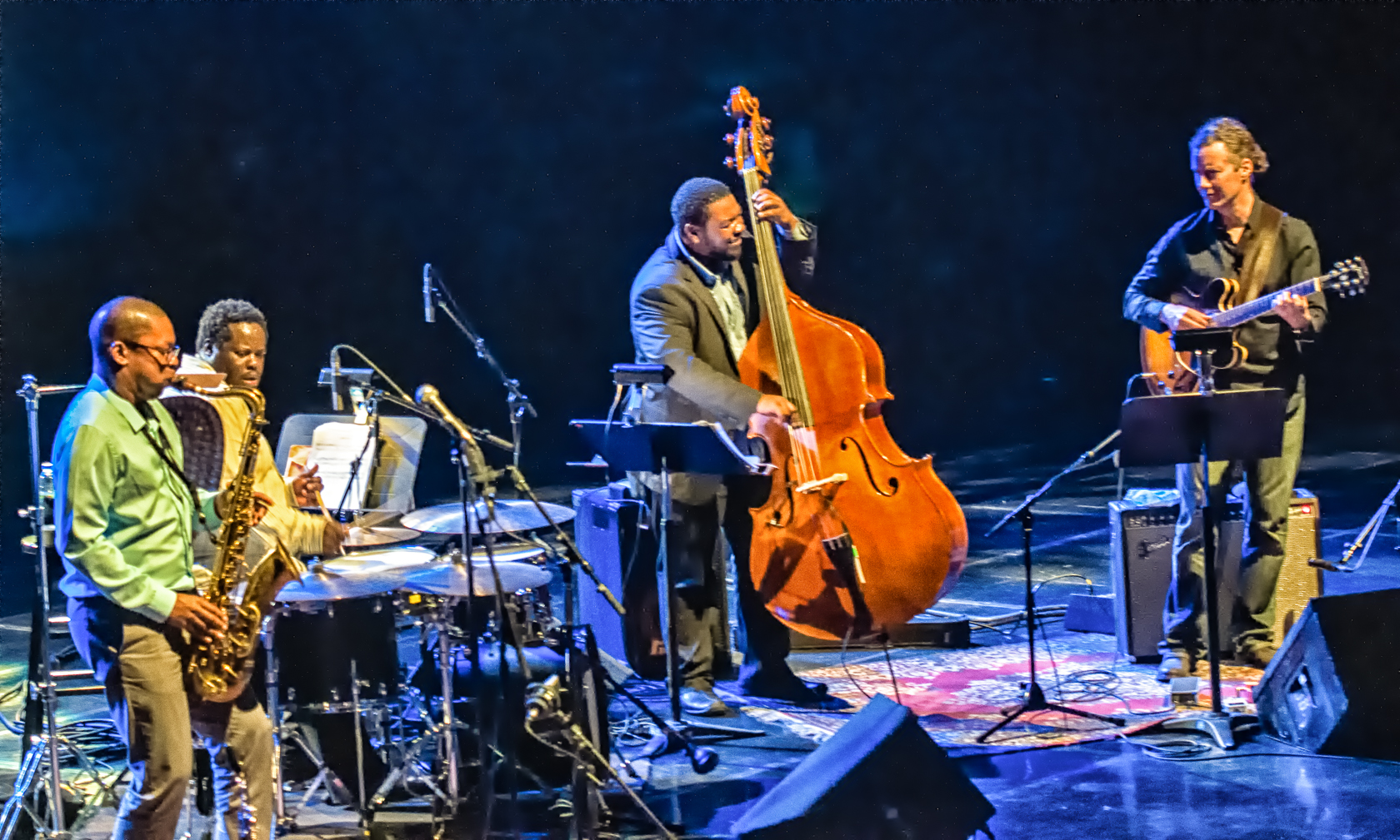 Ravi Coltrane, Johnathan Blake, Dezron Douglas And Adam Rogers At The Montreal International Jazz Festival 2013