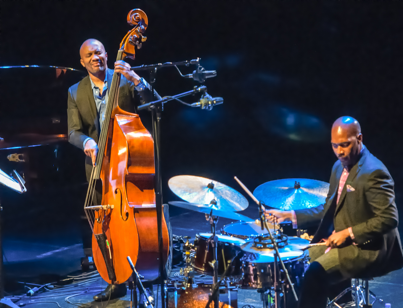 Reuben rogers and eric harland with the charles lloyd quartet at the montreal international jazz festival 2013