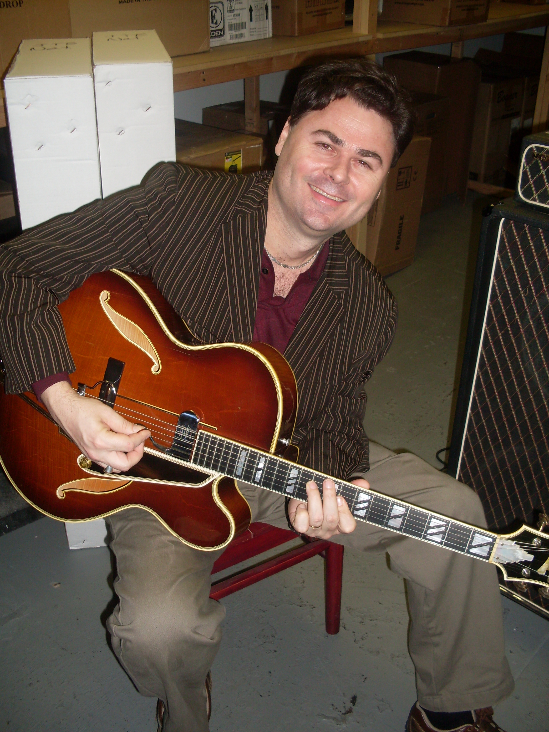 JC Stylles with Grant Greens Guitar