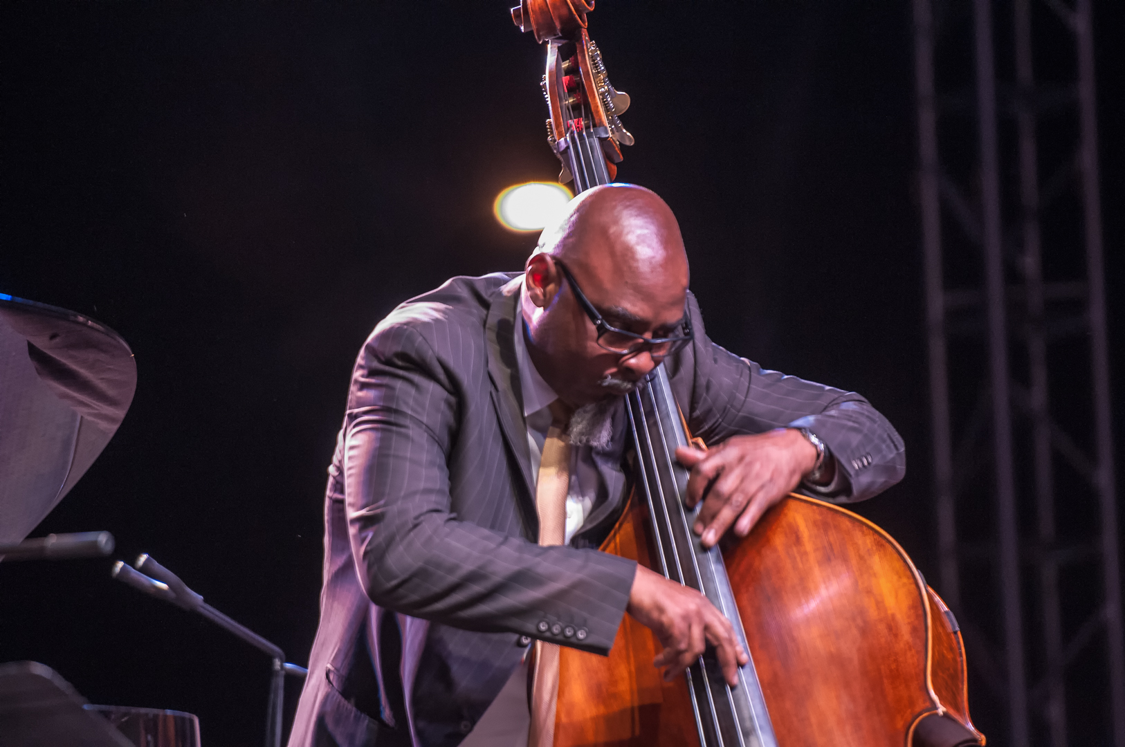 Gerald cannon with the mccoy tyner quartet at the scottsdale performing arts center