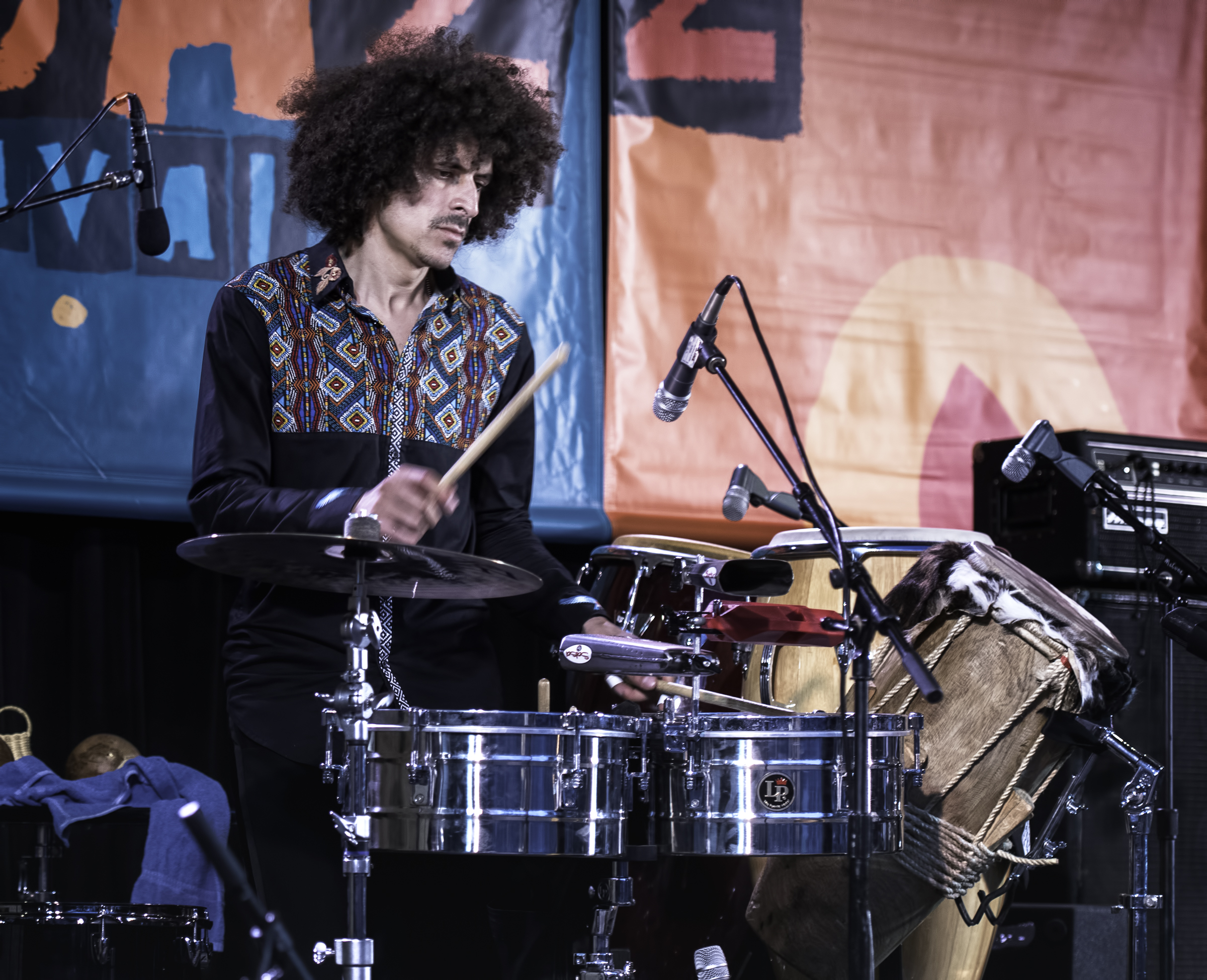 Darwin Paez with Monsieur Perrine at the Monterey Jazz Festival