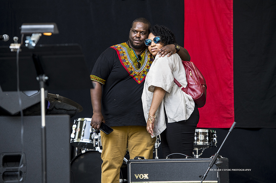 Jonathan Blake and Charenee at the 2017 Charlie Parker Jazz Festival