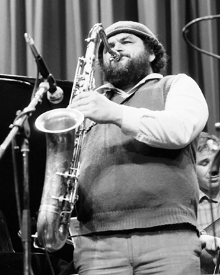 Sal Nistico 0323116 Shaw Theatre, London. March 1985 Images of Jazz