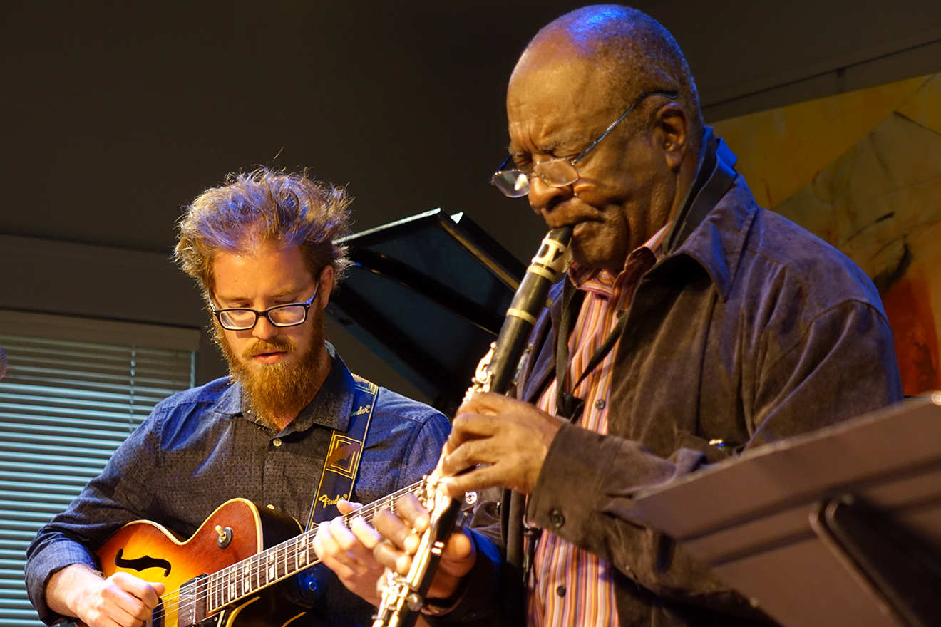 Jacob Schwandt and Wendell Harrison at Edgefest 2015