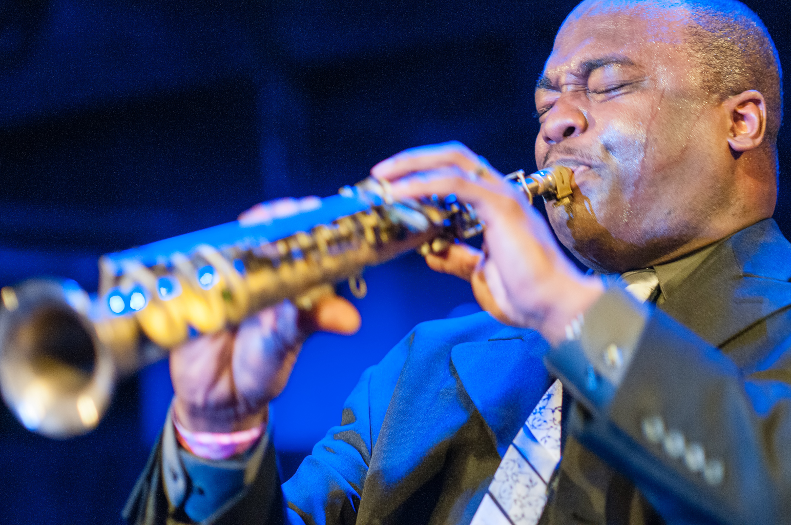 James Carter at le Poisson Rouge at Winter Jazzfest 2013