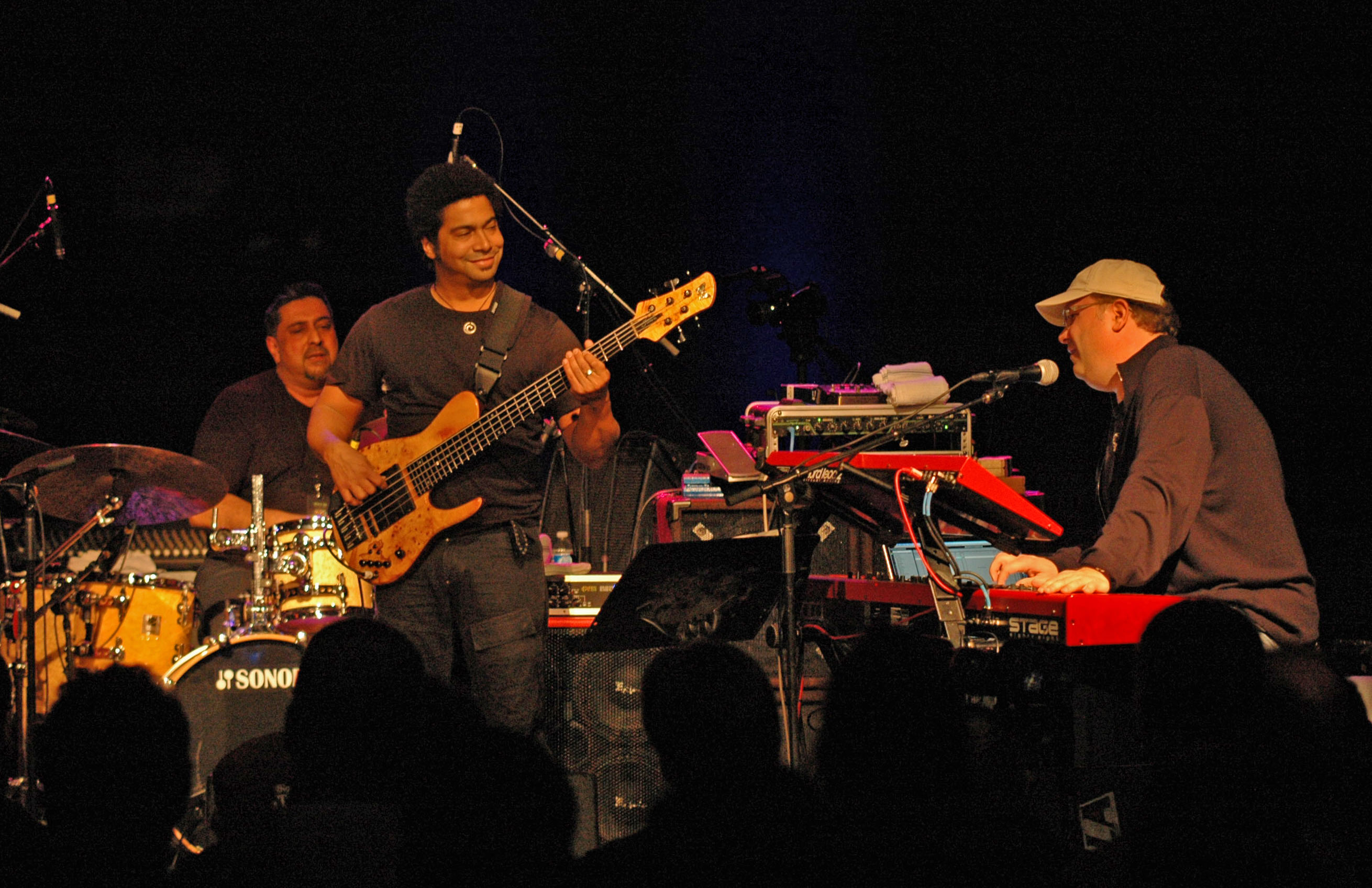 Ranjit Barot, Matthew Garrison and Scott Kinsey, Performing with Human Element at the New Universe Music Festival 2010