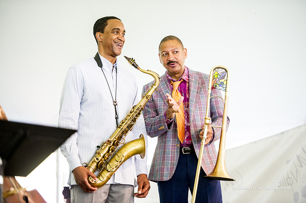 Javon Jackson and Delfeayo Marsalis at the 2017 Jazz in the Valley Jazz Festival